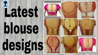 Latest blouse designs/ simple blouse back neck desings