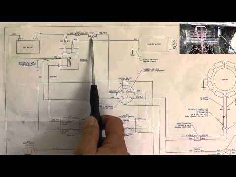 Riding Mower, Starting System Wiring Diagram - Part 1