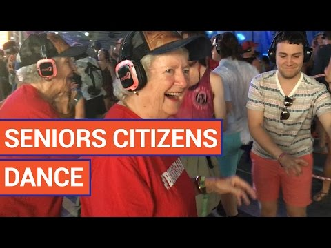 Amazing Senior Citizens Dancing At a Silent Disco | Daily Heart Beat 2016
