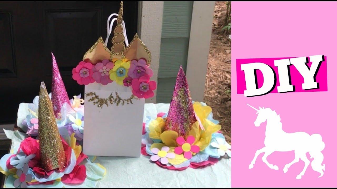Diy Unicorn Centerpieces Birthday Party Decor Youtube