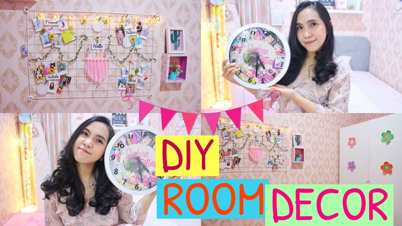 Diy Room Decor 10 Decor Kamar Mudah 2018 Youtube