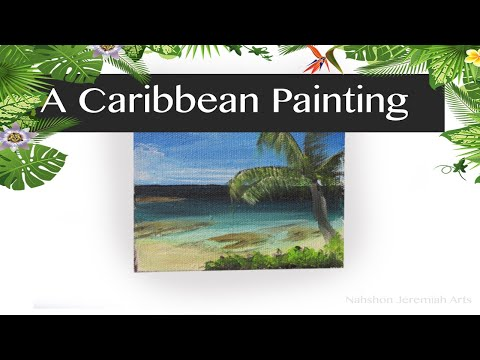 Great Stirrup Cay Bahamas Painting on Canvas | Easy Caribbean Daily Challenge #126 from YouTube · Duration:  7 minutes 38 seconds
