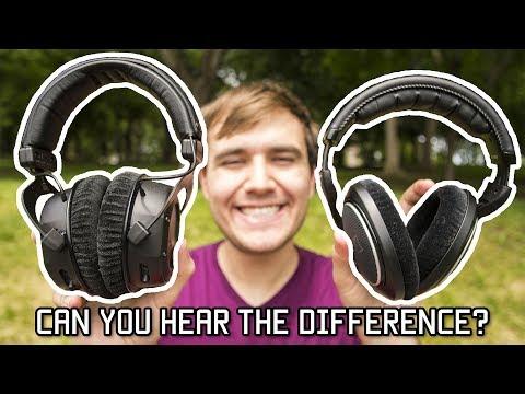 Open / Closed Back Headphones Audio Comparison