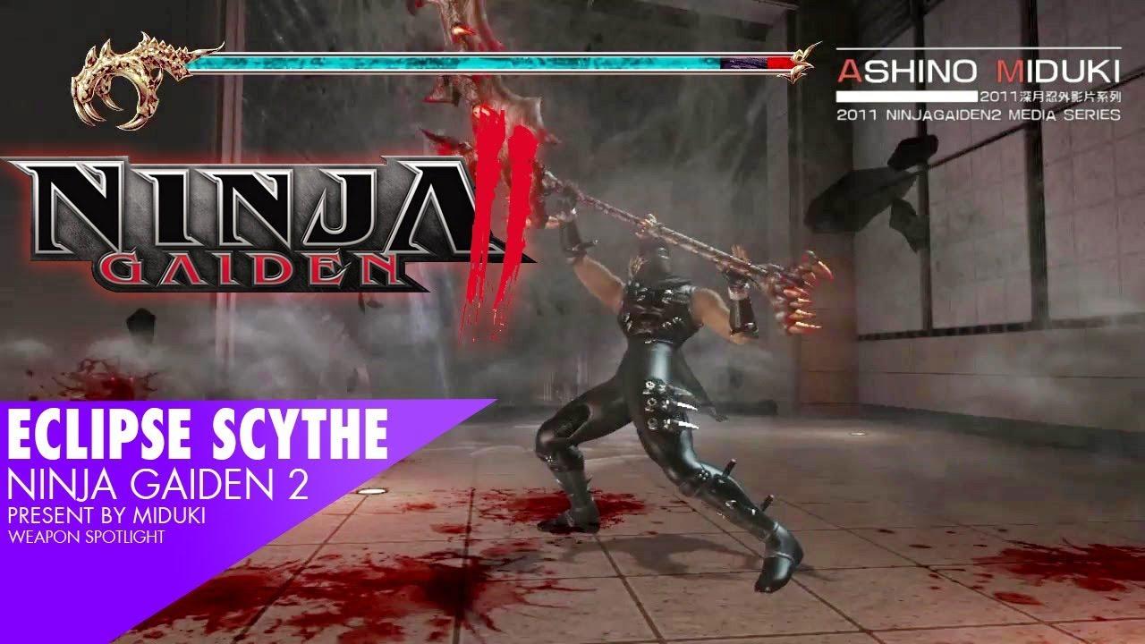 Weapon Spotlight Eclipse Scythe Ninja Gaiden 2 Youtube