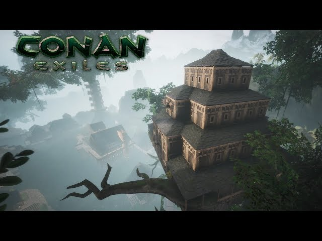 Conan Exiles - Building a Treehouse, Jungle City (Speed Build)