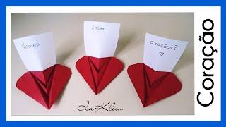 Origami Coração -- Origami Heart