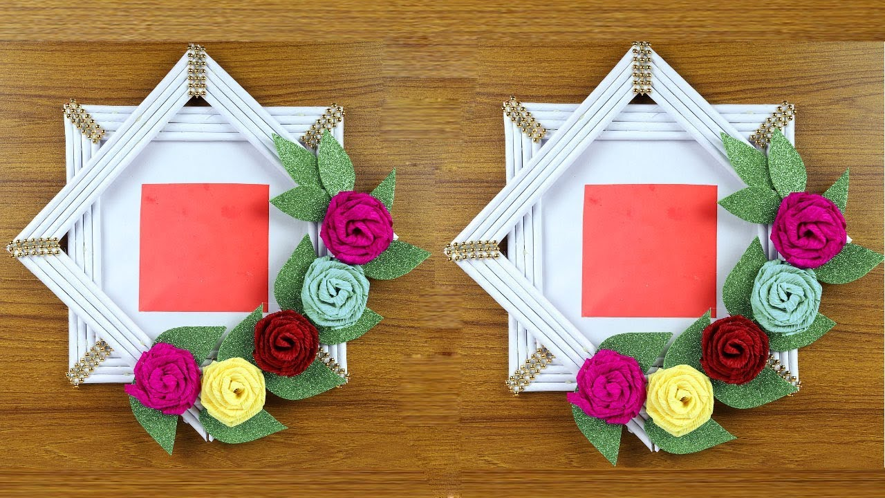 How To Make Genius Photo Frame Out Of Paper Easy Paper Crafts