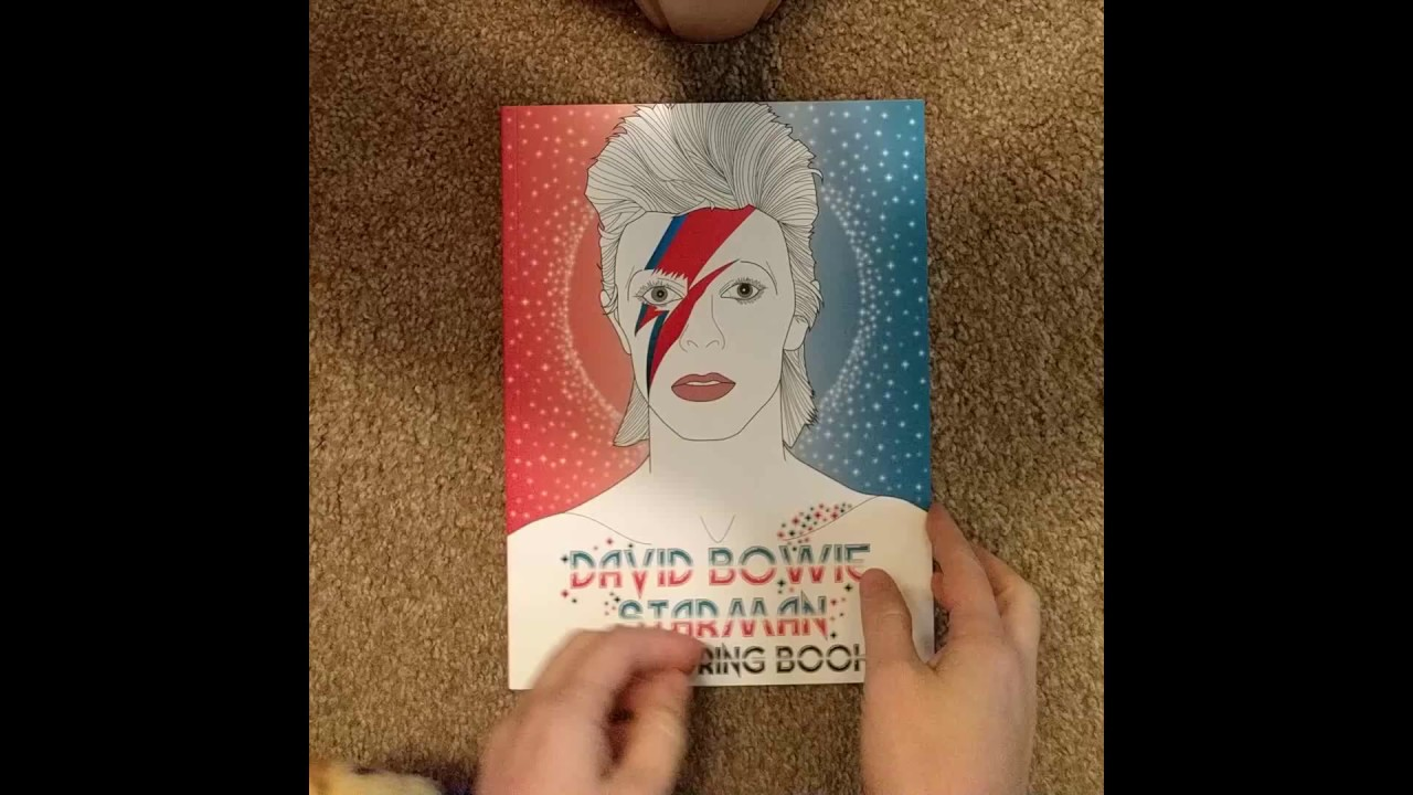 David Bowie Starman A Coloring Book Flip Through Review Youtube
