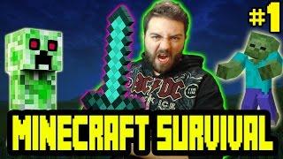 Minecraft Survival Bölüm 1 - Macera Başlıyor [ 1.10.2 ] /w Gitaristv /w T.E.O