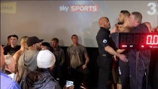 HEATED WORDS EXCHANGED! TONY BELLEW & BJ FLORES EXCHANGE WORDS DURING THE WEIGH IN / BELLEW v FLORES
