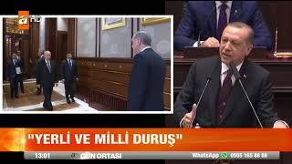 Erdoğan : Bahçeli'ye destekleri için şükranlarımı sunuyorum !