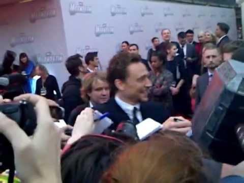 The Avengers. Russian Premiere. Tom Hiddleston signing my Mjelnir!