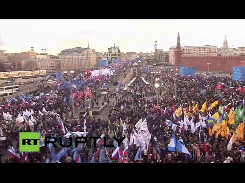 LIVE: Moscow holds rally marking Crimea's reunification with Russia