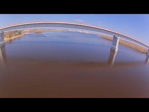 Strizh 8LR, р. Вах, разлив, 27.05.2018, полет на 7км, пролет под мостом