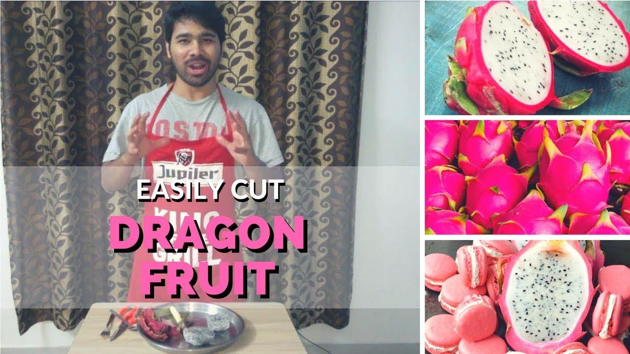 how to cut a dragon fruit (hindi)