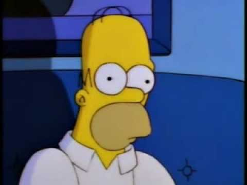 Homer Simpson Watches Twin Peaks