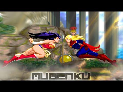 Wonder Woman Vs Captain Marvel. DC Vs Marvel MUGEN Battle