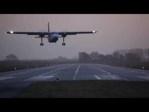 Crosswind!!! 2 spectacular takeoffs - Britten Norman BN-2