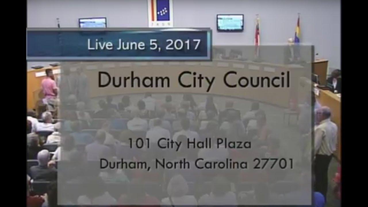 Durham City Council June 5 2017 Youtube