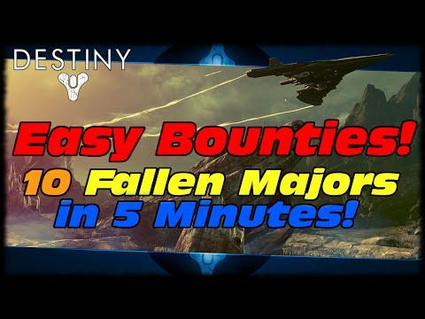 Destiny How To Kill 10 Fallen Majors In Under 5 Minutes! Destiny Easy Bounty Farming Guide!