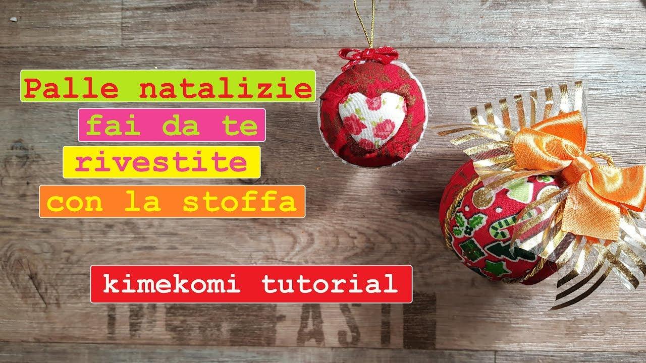 Palline di natale rivestite di stoffa kimekomi tutorial for Scatole rivestite in stoffa tutorial