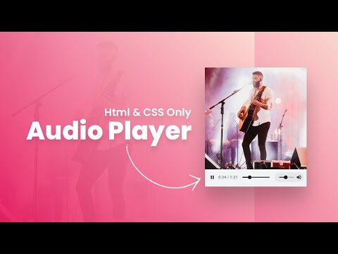 Html & CSS Only Audio Player | HTML5 Audio