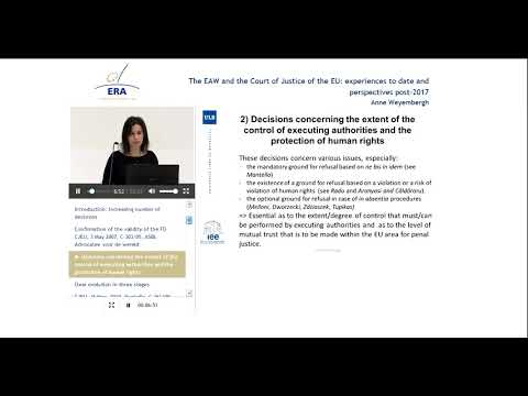 The EAW and the CJEU: Experiences to Date and Perspectives post-2017
