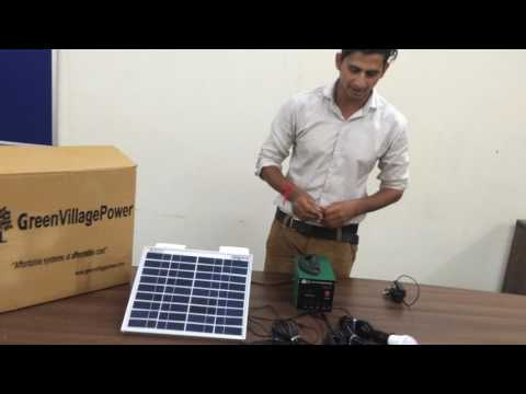 10 Watt Solar Home Lighting System - Green Village Power