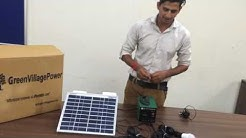 10 Watt Solar Home Lighting System - Green Village Power