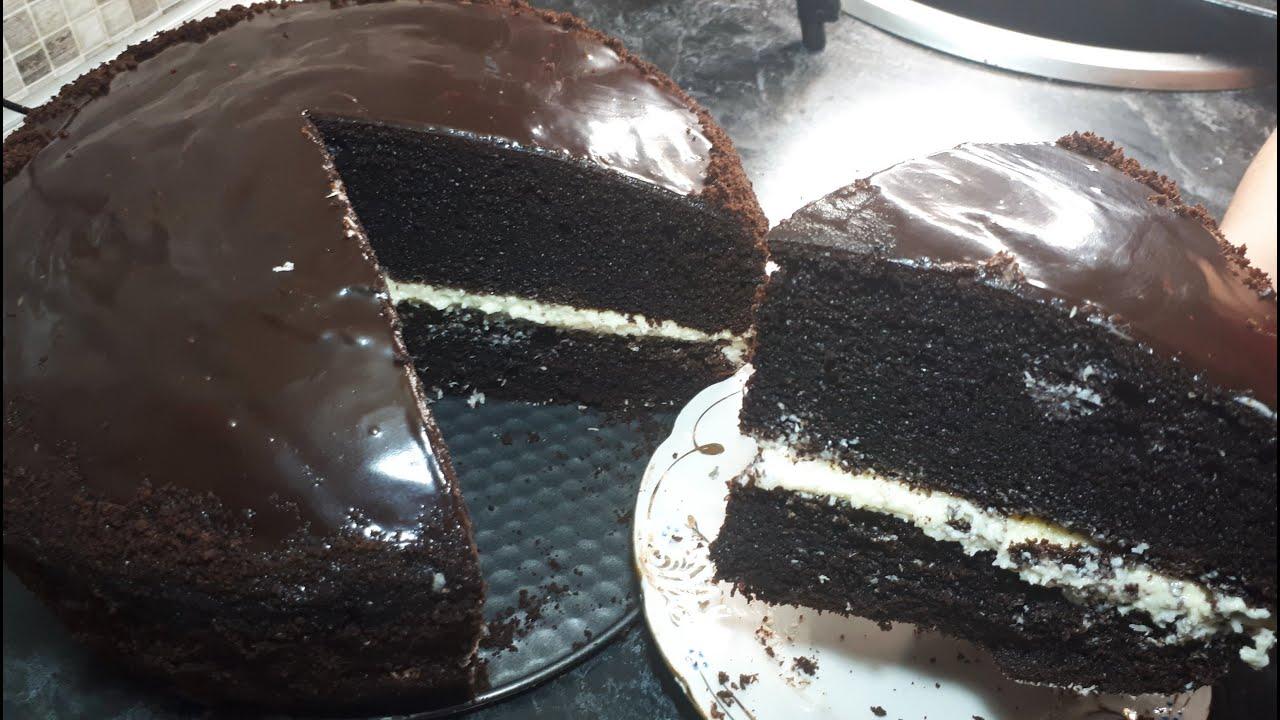 Без МУКИ Без САХАРА Без МАСЛА Мега Вкусный Торт из 3 х Ингредиентов + сода и крем | Easy Cake Recipe