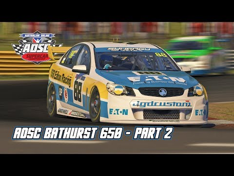 iRacing: AOSC Bathurst 650 - Part 2 (V8 Supercar @ Bathurst)