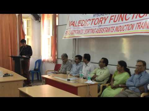 My Final Presidential Speech at Postal Training Centre PTC mysore