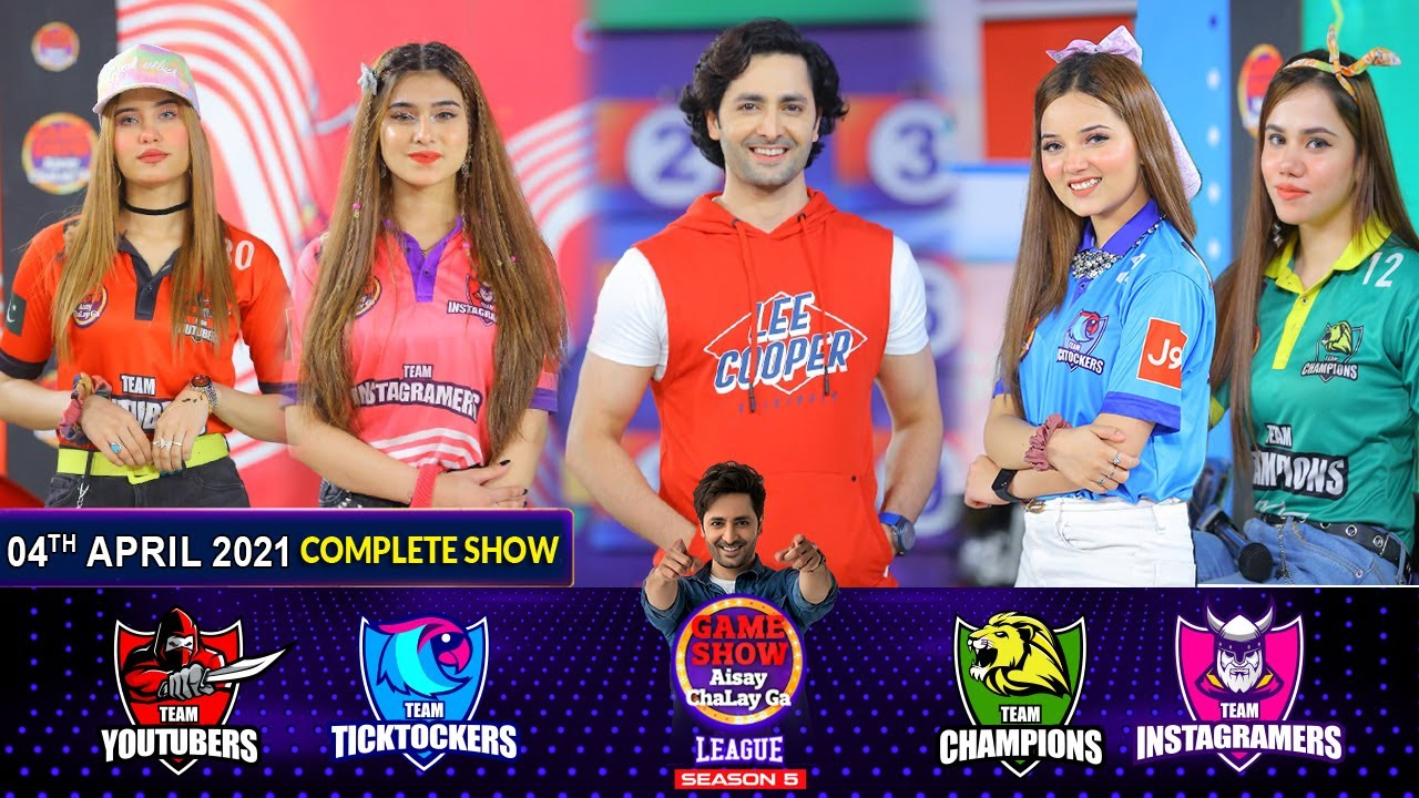 Download Game Show Aisay Chalay Ga League Season 5   Danish Taimoor   4th April 2021   Complete Show