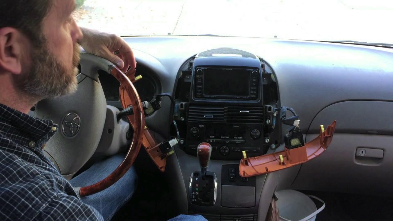 toyota sienna stereo removal