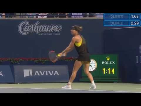 Highlight Simona Halep vs Magdalena Rybarikova   WTA Premier  Toronto, Canada 2017