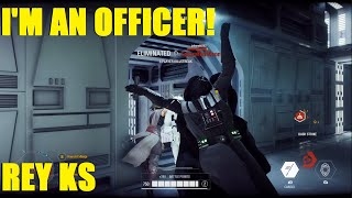 Star Wars Battlefront 2 - I'M AN OFFICER! LISTEN TO ME!! | Rey OWNS the Death Star! (2 games)