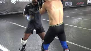 Drilling Counter Combinations In The TMT Kickboxing Class