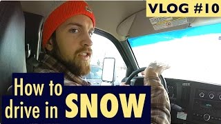 How to drive in SNOW | SA VLOG #10