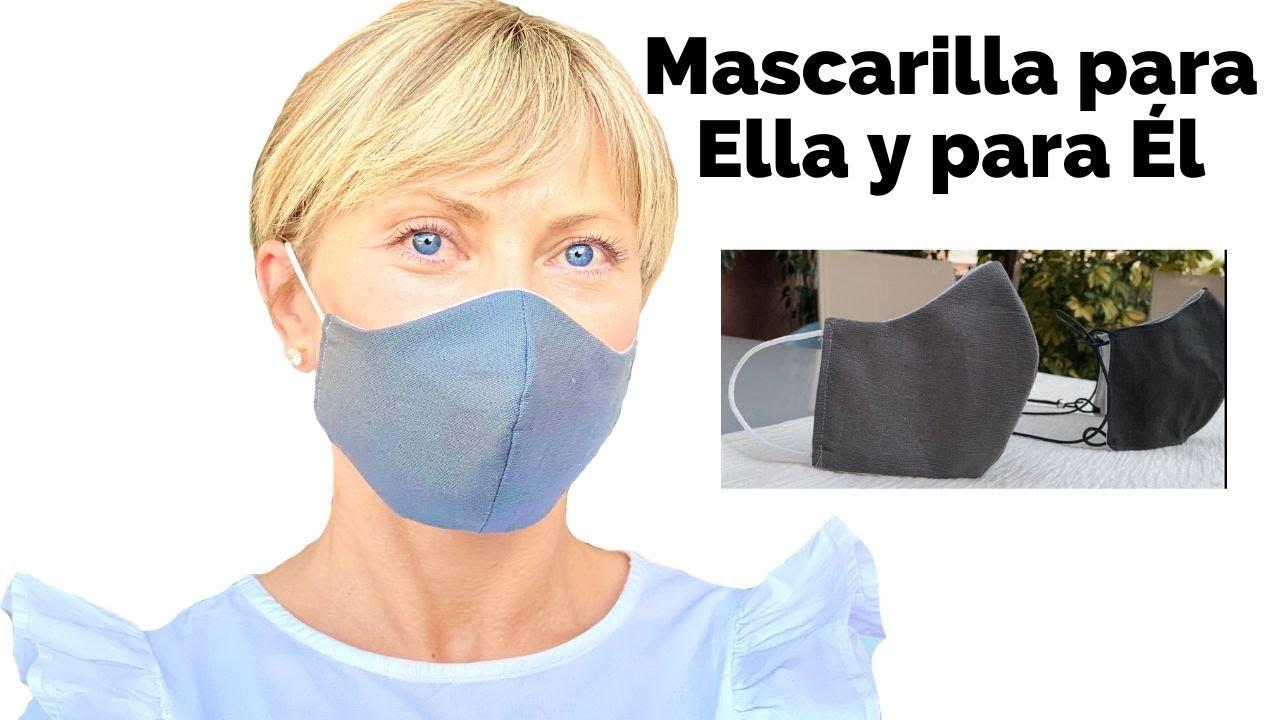 Mascarilla Para Ella y para Él, muy cómodo y muy fácil | DIY FACE MASK
