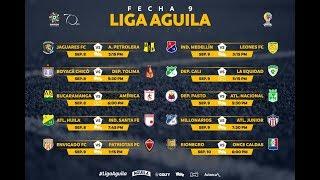 Liga Águila II-2018 .9 novena jornada, Resultados, Clasificación, y próxima jornada.