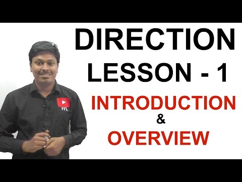 DIRECTION - OVERVIEW AND INTRODUCTION - LESSON 1