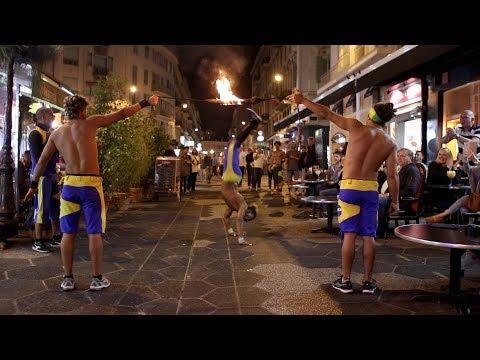 Capoeira Brésilienne Dans Le Vieux Nice
