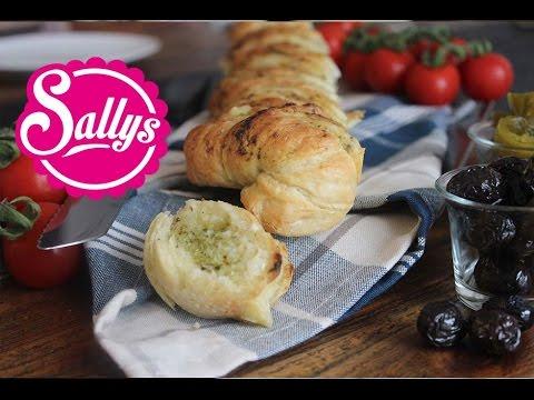Kräuter-Knoblauch-Baguette mit selbst gemachtem Baguette / mediterran / Sallys Welt