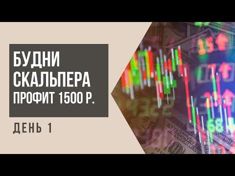 Будни скальпера. День 1. Скальпинг на Московской бирже. Профит 1500 р.