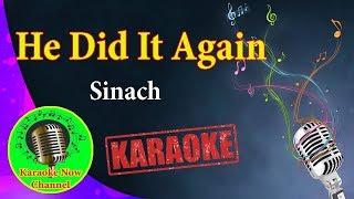 [Karaoke] He Did It Again- Sinach- Karaoke Now