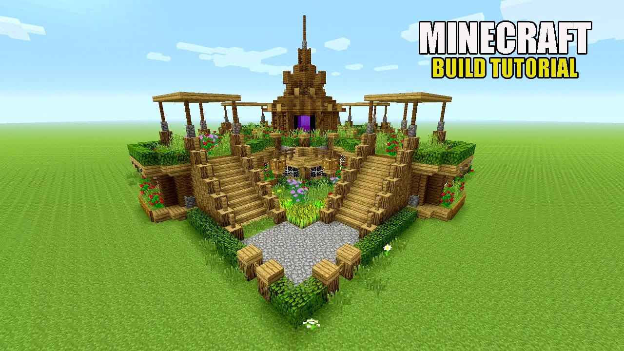 Minecraft beautiful garden garden decoration ideas underground survival base tutorial - Minecraft garden designs ...