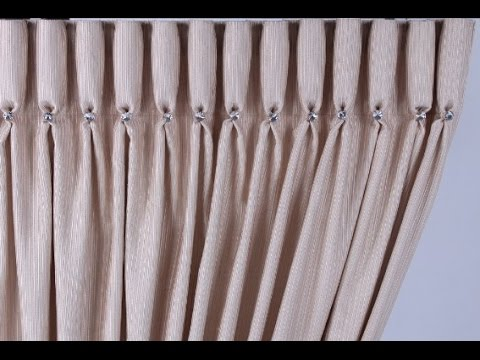 Goblet pleat- how to make a goblet pleat curtain (200mm tape for a proud pleat)