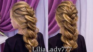 Красивая Прическа.Коса из двойного жгута.Beautiful Hairstyles