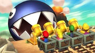 Mario Party 9 MiniGames - Peach Vs Mario Vs Luigi Vs Wario (Master Difficulty)