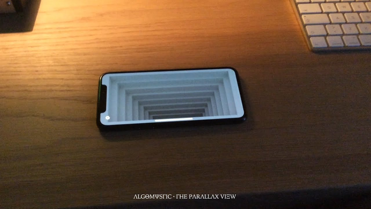 TheParallaxView        Illusion of depth by 3D head tracking on iPhone X     TheParallaxView        Illusion of depth by 3D head tracking on iPhone X